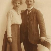 Romantische trouwfoto Paatje en Moeke