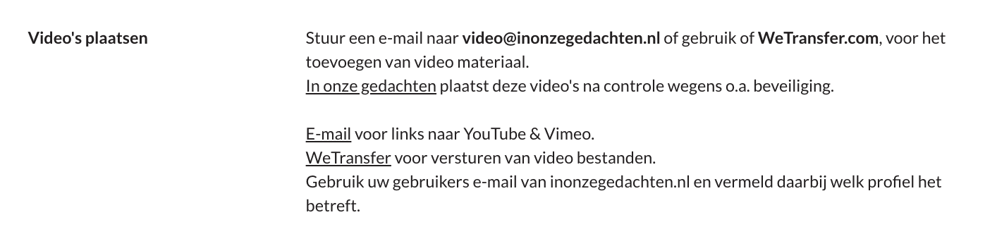Profiel video toevoegen
