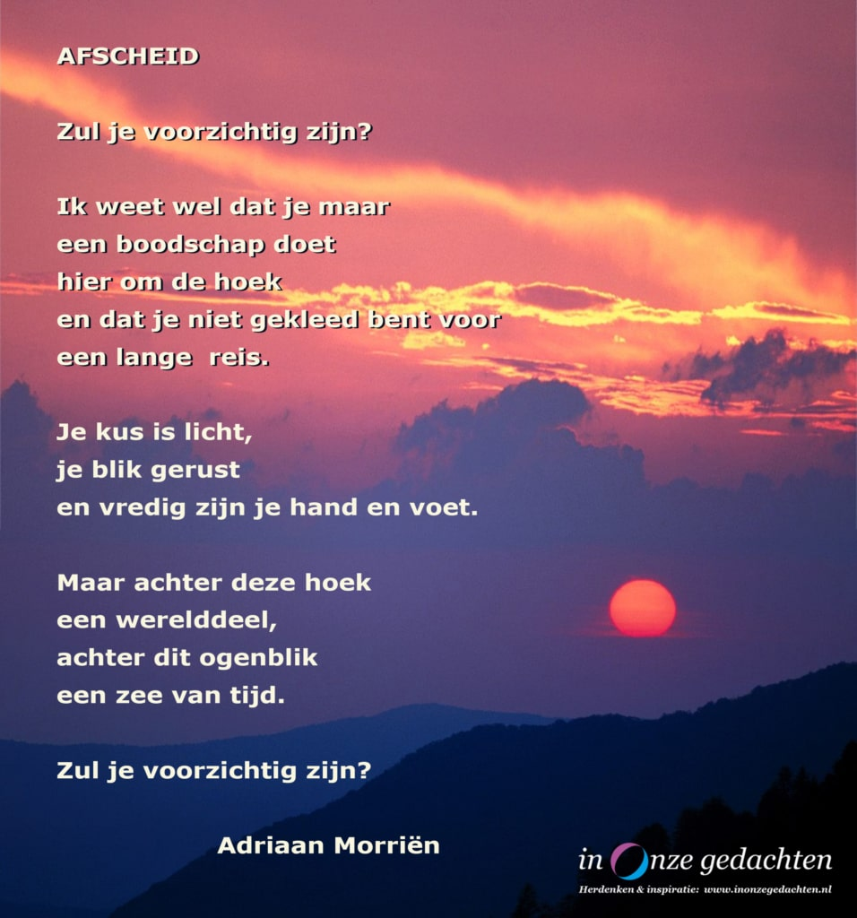 Afscheid - Adriaan Morriën