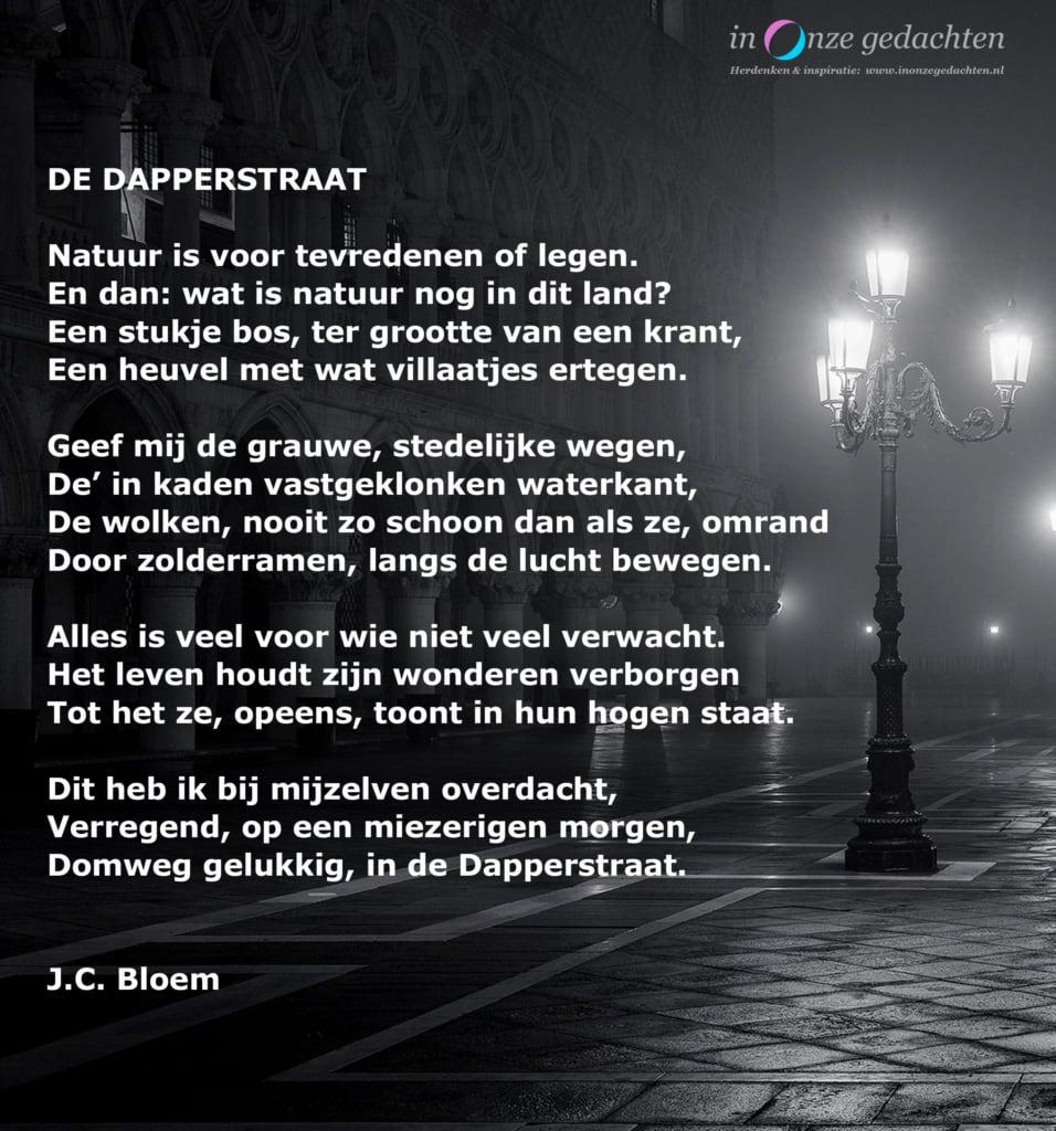 De Dapperstraat - JC Bloem