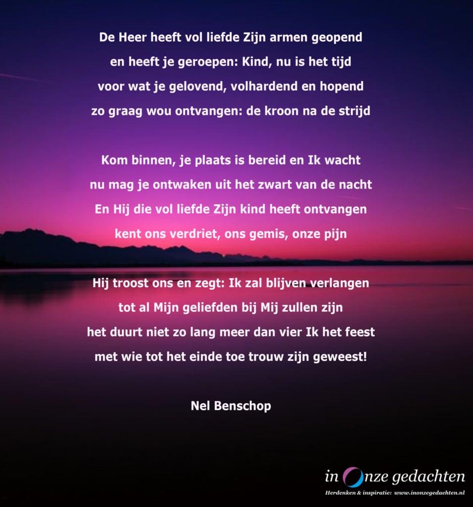 De Heer heeft vol liefde - Nel Benschop
