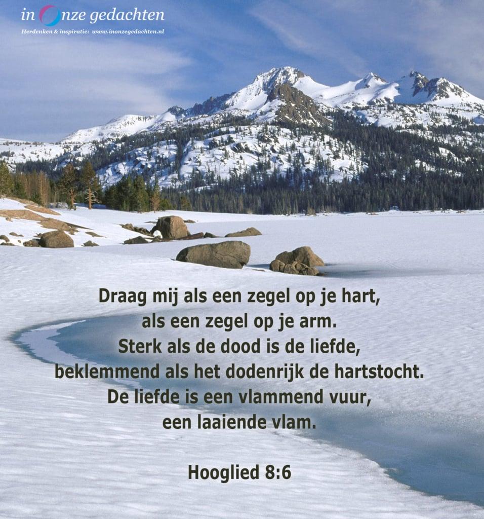 Draag mij als een zegel, Hooglied 8-6
