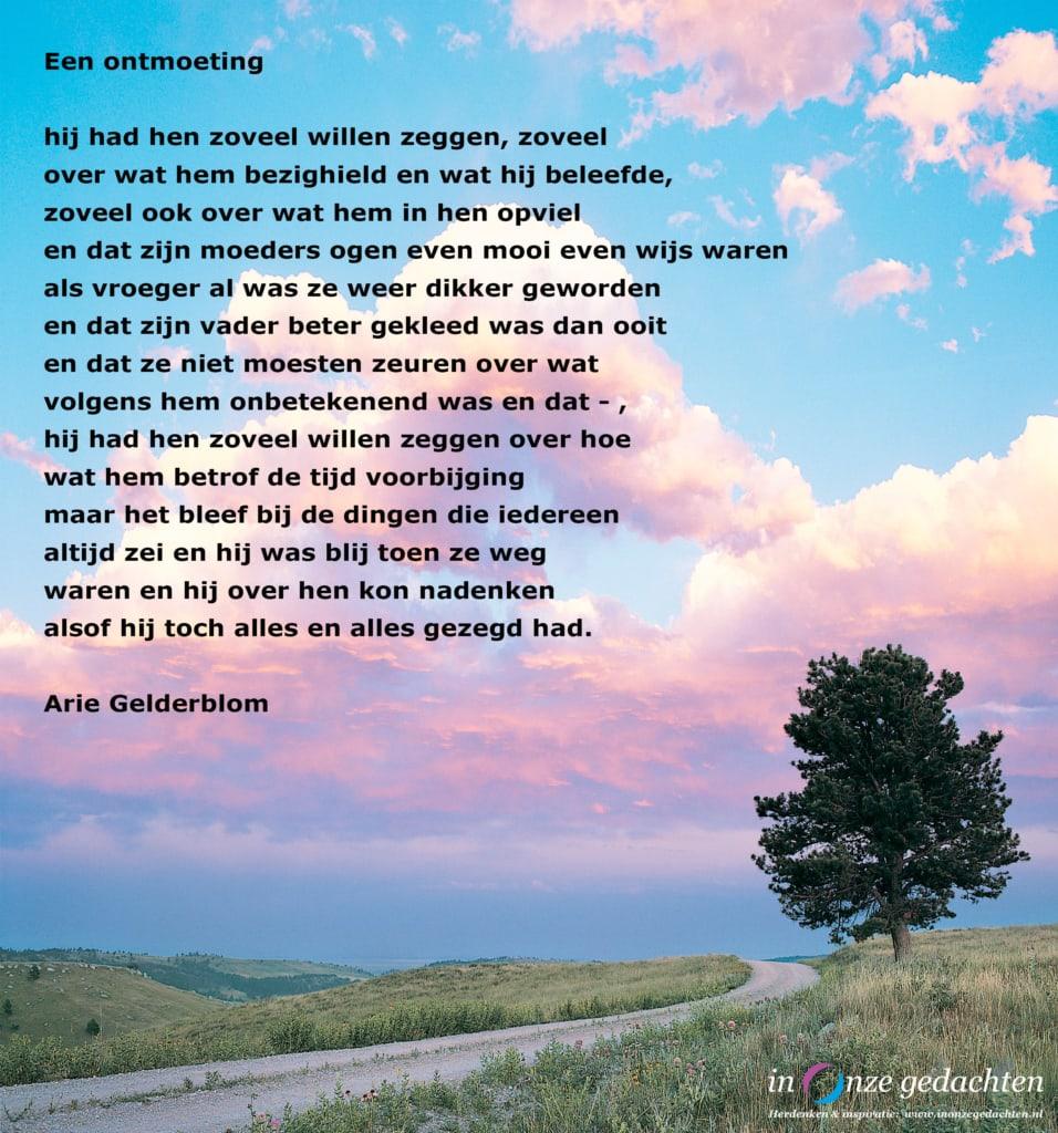 Een ontmoeting - Arie Gelderblom