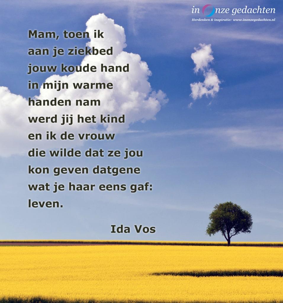 Mam., toen ik aan je ziekbed - Ida Vos