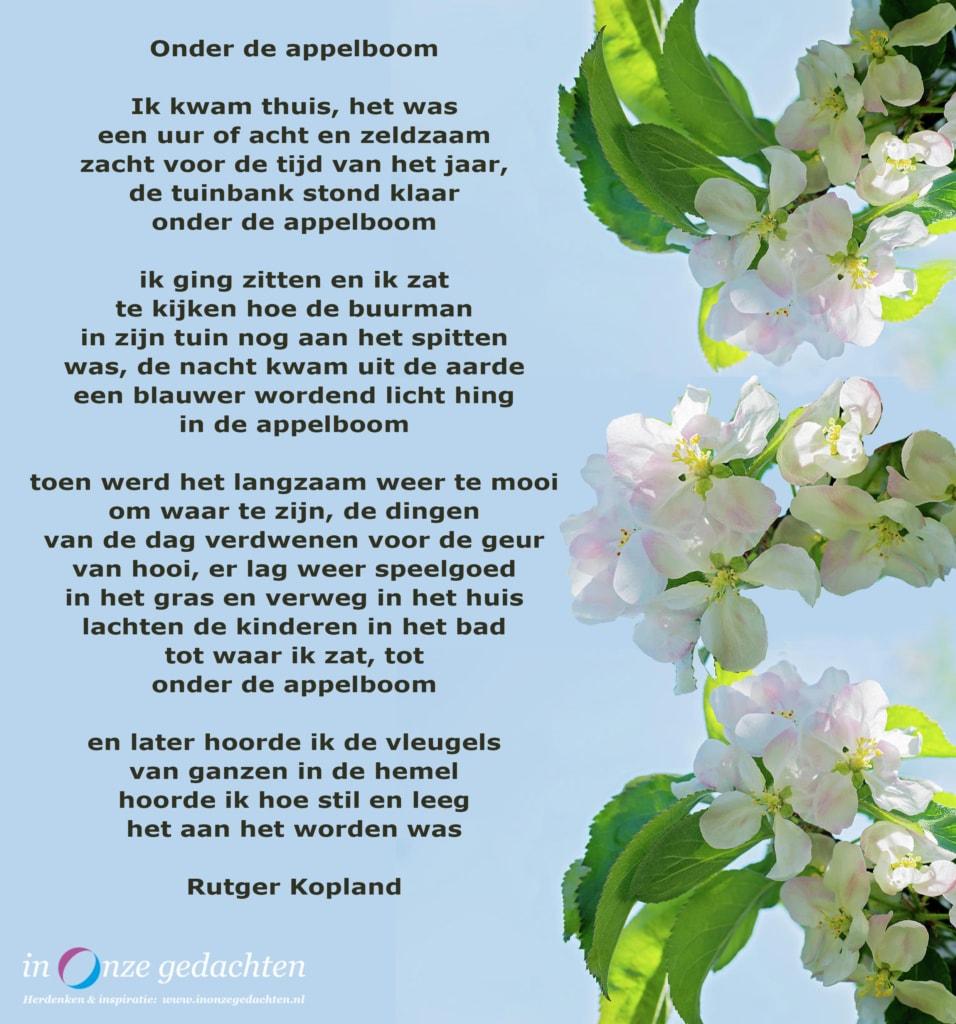 Onder de appelboom - Rutger Kopland